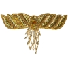 Motif Beaded 26cmx17cm Wing with fringe Gold Aurora Borealis